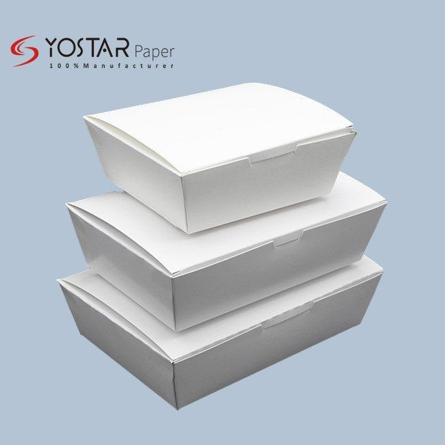 White cardboard Paper Meal Box
